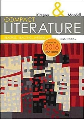 COMPACT Literature Reading Reacting, Writing, 2016 MLA Update 9th Edition(EB00k)
