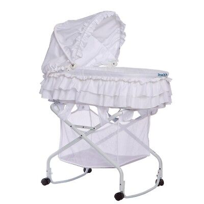 Dream On Me 440-W Layla 2 in 1 Bassinet To Cradle, White