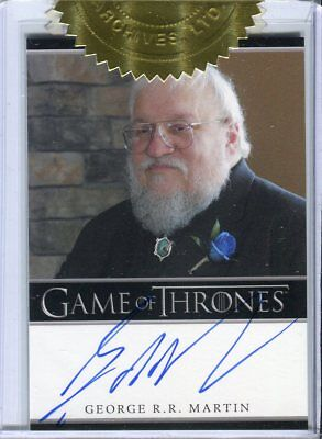 GAME OF THRONES Season 2 Two  Dealer Incentive Autograph Card  George Martin