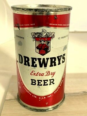 DREWRYS Horoscope Virgo-Libra Flat Top Beer Can, South Bend, IN USBC  56-31