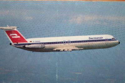AK Airliner Postcard GERMANAIR Bac-1-11 airline issue