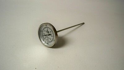 """*NEW* Tel-Tru GT225 Back Connect Thermometer, 2"""" dial"""