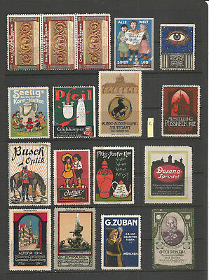 CINDERELLA POSTER STAMPS horse soldier coffee sing 1912 1913  (L)