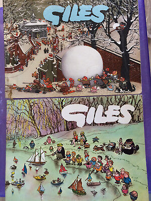 Giles books x 2 11th series 1957, and 19th series 1964-65, good cond.