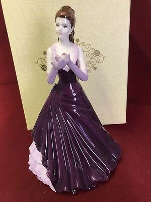 "COALPORT  FIGURINE  ""Thinking Of You "" Boxed"