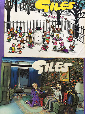 2 x Giles books 16 (1962), and 26th series with a Dave Allen intro, good cond.