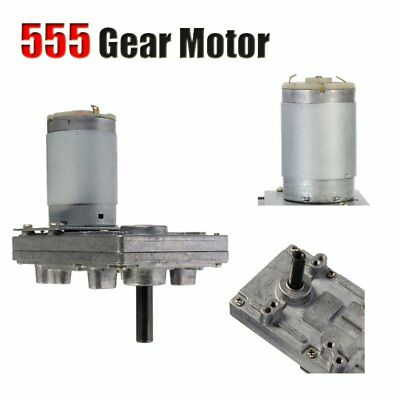 555 Full Metal Gear Motor DC12V Worm Gearbox Reversible Adjustable UK 2019