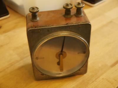 Rare Hardwood Cased Early Vintage Dated 1916 Electric Galvanometer Volt Tester