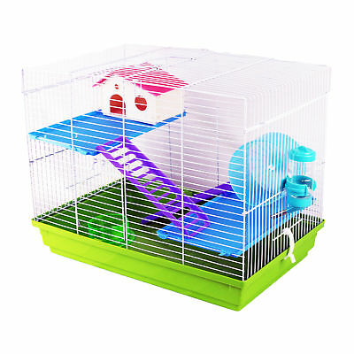 Pet Ting Sunflower Hamster Cage Gerbil Mouse Dwarf Mice Wheel Easy Clean Green