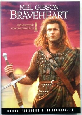 Dvd Braveheart - ed. remastered 2 discs with Mel Gibson 1995 Used