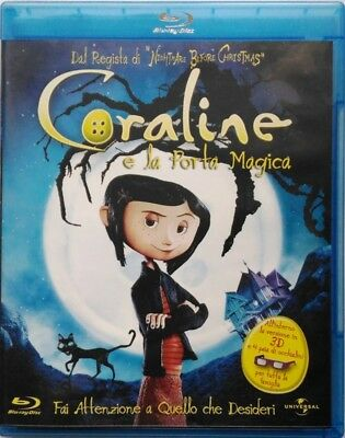 Blu-ray Coraline Magic (3D and 2D) by Henry Selick 2009 Used