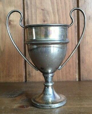 NOT ENGRAVED vintage silver plate trophy, loving cup, trophies, trophy