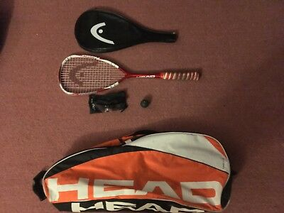Head Palmer 120 Squash racket, Head Bag, Squash Goggles and one dot ball