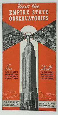 1938? Empire State Building Observatory Brochure Tallest Building in the World