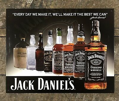 """Jack Daniel's Whiskey """"We'll Make It The Best We Can"""" Tin Metal Sign"""