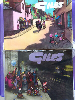 2 x Giles books, series 15, and series 13, 1950s, good cond.