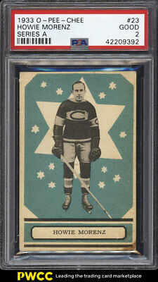 1933 O-Pee-Chee Series A Howie Morenz #23 PSA 2 GD (PWCC)