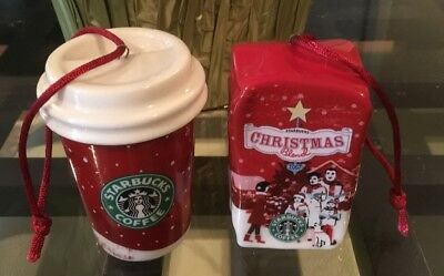 2007 Starbucks Holiday Ornaments