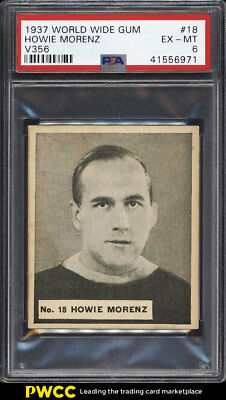 1937 V356 World Wide Gum Hockey Howie Morenz V356 #18 PSA 6 EXMT (PWCC)