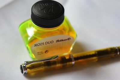 Pelikan M205 Duo Yellow Highlight Fountain Pen