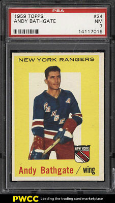 1959 Topps Hockey Andy Bathgate #34 PSA 7 NRMT (PWCC)