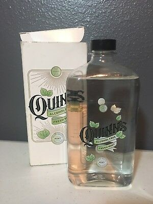 New Quinn's Fresh Mint Alcohol Free Mouth Wash 16 Oz *