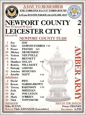 NEWPORT COUNTY FOOTBALL PROGRAMME FA CUP SIGN NEWPORT COUNTY FC v LEICESTER CITY
