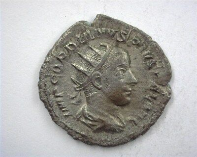 Gordian Iii 238-244 Ad. Silver Denarius Nearly Uncirculated S#8670