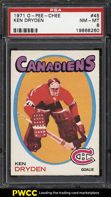 1971 O-Pee-Chee Hockey Ken Dryden ROOKIE RC #45 PSA 8 NM-MT (PWCC)