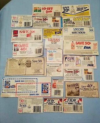Vintage Lot 1980's Coupons No Expiration Date Total Savings $9.14
