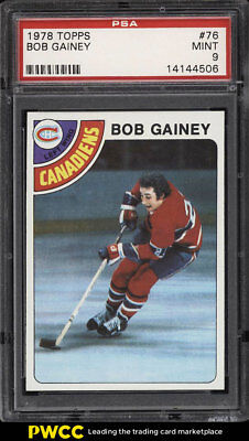 1978 Topps Hockey Bob Gainey #76 PSA 9 MINT (PWCC)