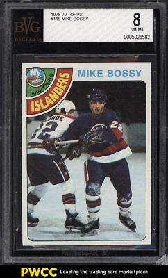 1978 Topps Hockey Mike Bossy ROOKIE RC #115 BVG 8 NM-MT (PWCC)