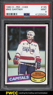 1980 O-Pee-Chee Hockey Mike Gartner ROOKIE RC #195 PSA 9 MINT (PWCC)