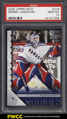 2005 Upper Deck Young Guns Henrik Lundqvist ROOKIE RC #216 PSA 10 GEM MT (PWCC)