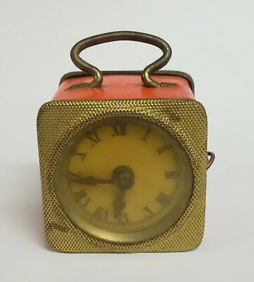 Vintage Tape Measure Figural Mantel Clock - Made In Germany - Sewing Collectible