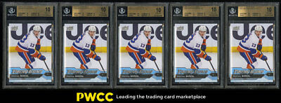 Lot(5) 2016 Upper Deck Young Guns Mathew Barzal ROOKIE #458, ALL BGS 10 (PWCC)