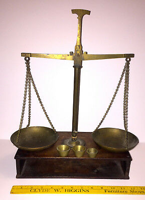 Antique Gold Rush Era Hand-Made Gold Scale - Neat!
