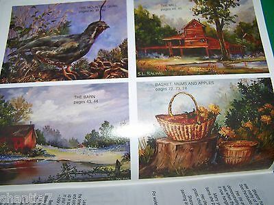 Rustic Charms V5 By Sharon Rachal 1992 Oil Paint Book Scheewe Tole Landscapes