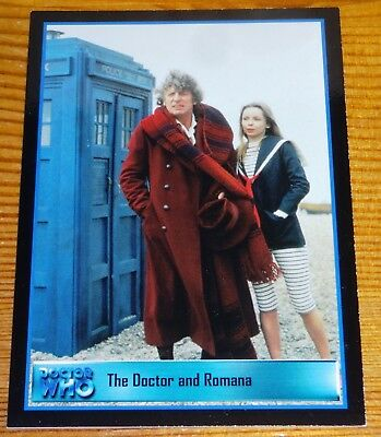 Dr Who Series 2 Trading Cards by Strictly Ink Promo Card WEB-1 Doctor and Romana