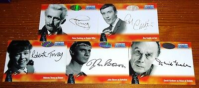 Dr Who Big Screen Additions - Complete 5-Card Autograph Set Strictly Ink (2008)