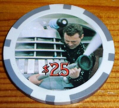 Dr Who Big Screen Additions $25 Case Topper Collector Casino Chip Strictly Ink
