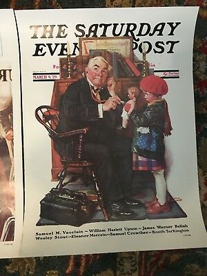 Saturday Evening Post MARCH 9, 1929  (REPRINT) Norman Rockwell (COVER ONLY)