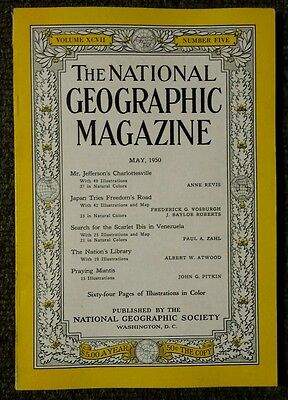 National Geographic magazine May 1950 Japan Tries Freedom's Road, Venezuela