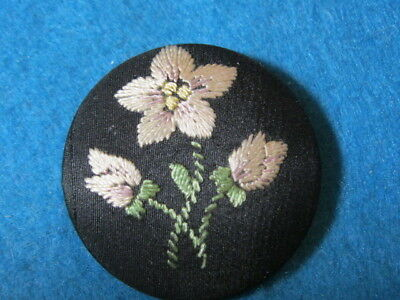 Beautiful Large Embroidered Button