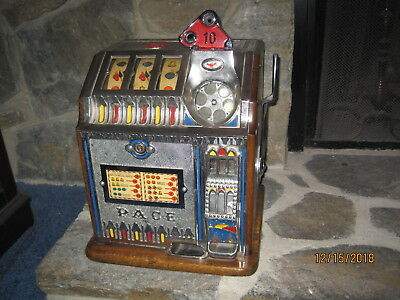 ANTIQUE SLOT MACHINE - PACE BANTAM - BEAUTIFUL - 10 CENT - 1920's-1930's - RARE