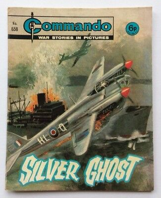 Vintage COMMANDO COMIC War Stories in Pictures #658 - Silver Ghost