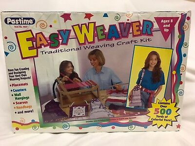 Sealed Easy Weaver Traditional Weaving Craft Kit By Past Time Loom Yarn No. 9037