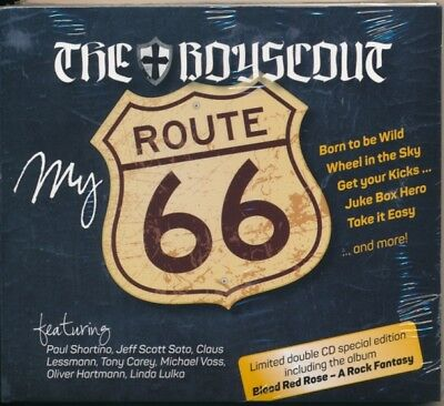 """THE BOYSCOUT """"My Route 66"""" (2CD 2015) OVP AOR Melodic feat. Soto, Shortino, Less"""