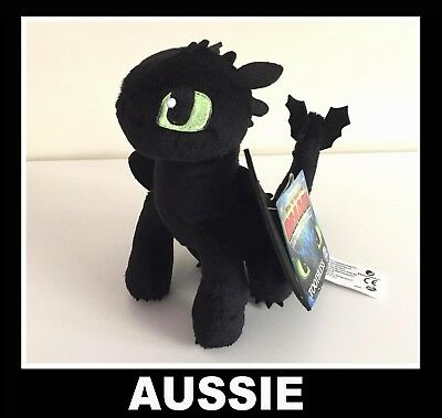 Genuine!! How To Train Your Dragon The Hidden World Plush TOOTHLESS ~ 19cm NEW