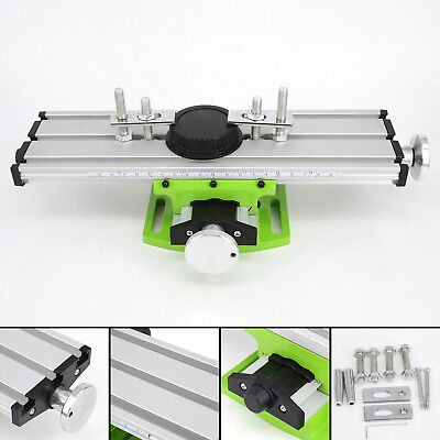 Milling Compound Work Table Cross Slide Bench Drill Press Vise Fixture Two Track